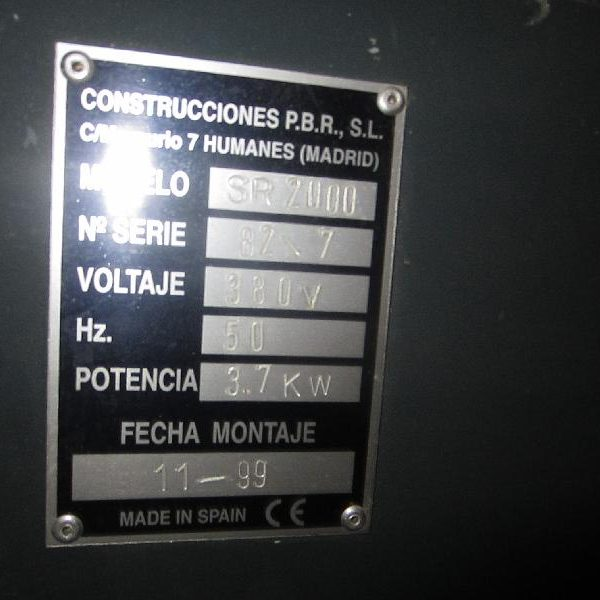 Taladro CNC PBR SR2000 3 Segunda Mano